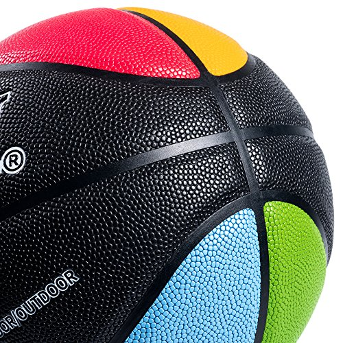 """Kuangmi Olympic Colors Basketball Size 3,4,5,6,7 for Baby Child Boys Girls Youth Men Women (Intermediate Size 6(28.5"""")) by Kuangmi (Image #3)"""
