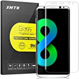SMTR® Samsung Galaxy S8 Film Protection d'écran, [Full Coverage][Résistant aux rayures][Ultra Clair][Easy-Install] 3D 0.33mm 9H en Verre Trempé pour Samsung Galaxy S8 Protection écran en Verre Trempé - transparent (1 Pack)