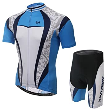 Amazon.com: Traje de ciclismo para hombre, color blanco ...
