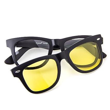 Cyxus filtro de luz azul gafas (lente transparente) con clip on polarizado  gafas de eadbc68b2501