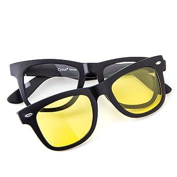Cyxus filtro de luz azul gafas (lente transparente) con clip ...