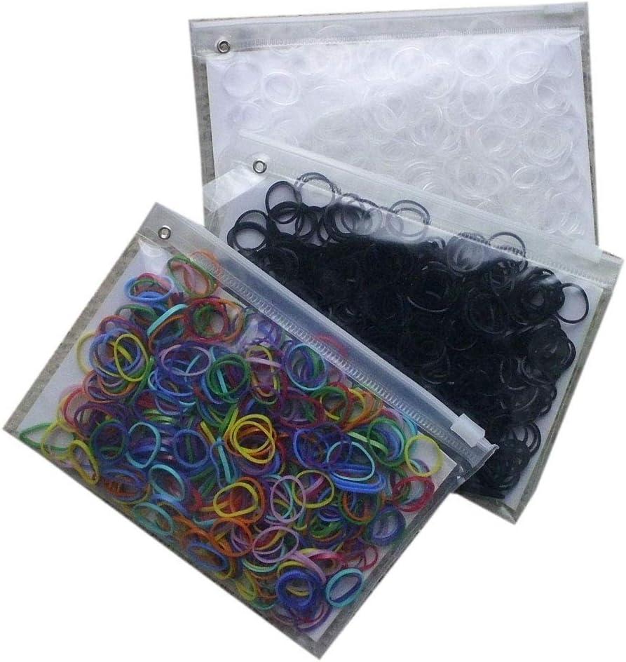 Crines de goma para el pelo y crin negro |  Nunca reisser enredado 400 piezas de diferentes coloures para personas - y los caballos peinados