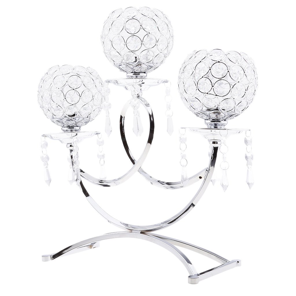 Homyl Crystal Candelabra for Home Decoration Wedding Party Table Decorative Centerpiece Candle Holders Festival Holiday Decor Gifts for Birthday/Housewarming - Gold, as described