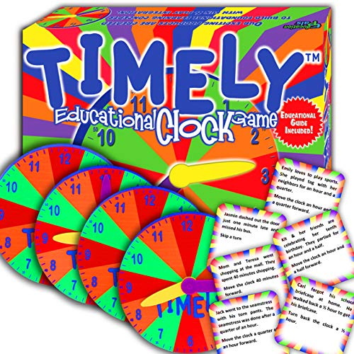 Free Worksheets Reading - TIMELY™ - Best Learning Clock & Reading Game - Cool Math Games -Top Educational Play for Boys & Girls. - Perfect for Kids, Family Board Game. - Prime Gift for Elementary School Students.