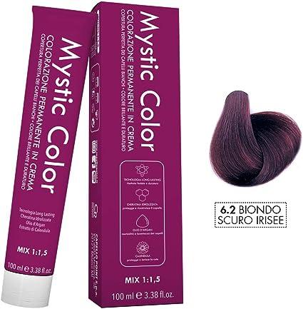 Mystic Color - Coloración Permanente en Crema con Aceite de Argán y Caléndula - Color Natural y Duradero - Tono 6.2 Rubio Violeta Oscuro - 100 ml