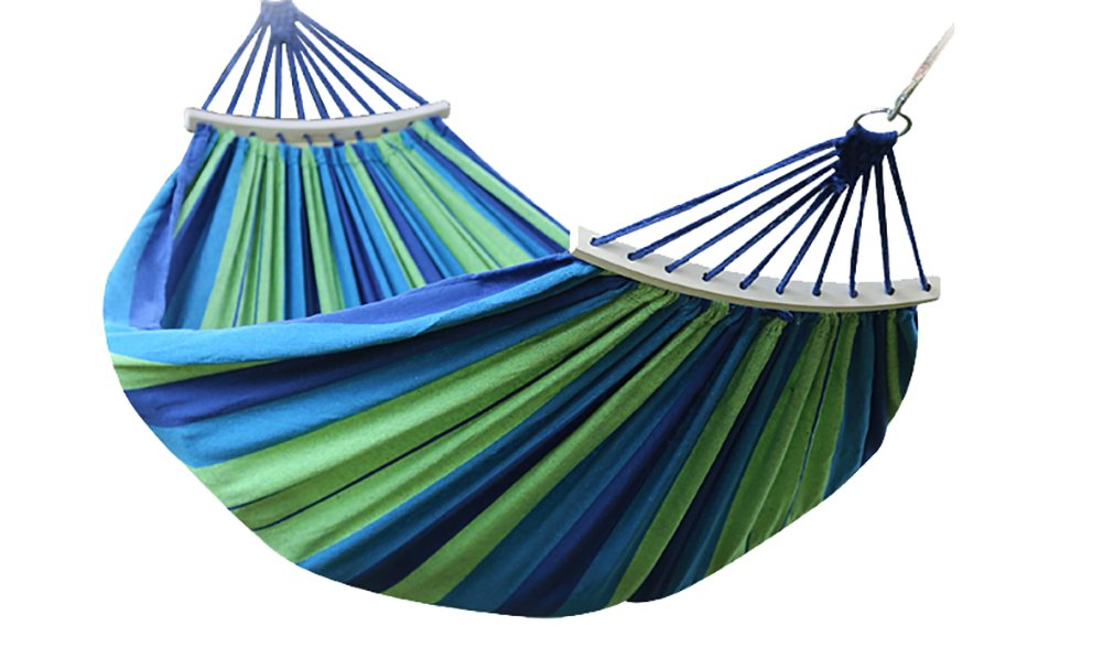 durable modeling jote striped canvas hammock with large size curved spreader bar outdoor patio yard hammock durable modeling jote striped canvas hammock with large size      rh   bestofprinting