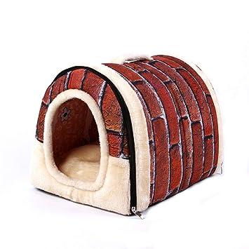 HKANG Casa de Mascotas 2-en-1 y Sofá, Interior y Exterior Plegable Portátil Perro Gato Dormitorio.Dale a tu Animal una casa Confortable,M: Amazon.es: Hogar