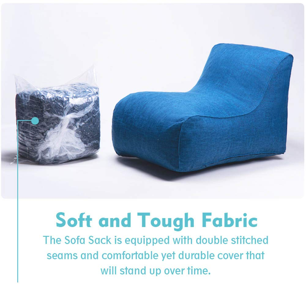 Comfortable Back Support Sofa Sack Soft Fiber Cover Merax Floor Couch Bean Bag Chair for Adults Floor Cushion Sofa for Room Sofa Chair Memory Foam Lounger Sleeper for Reading Napping Gaming TV
