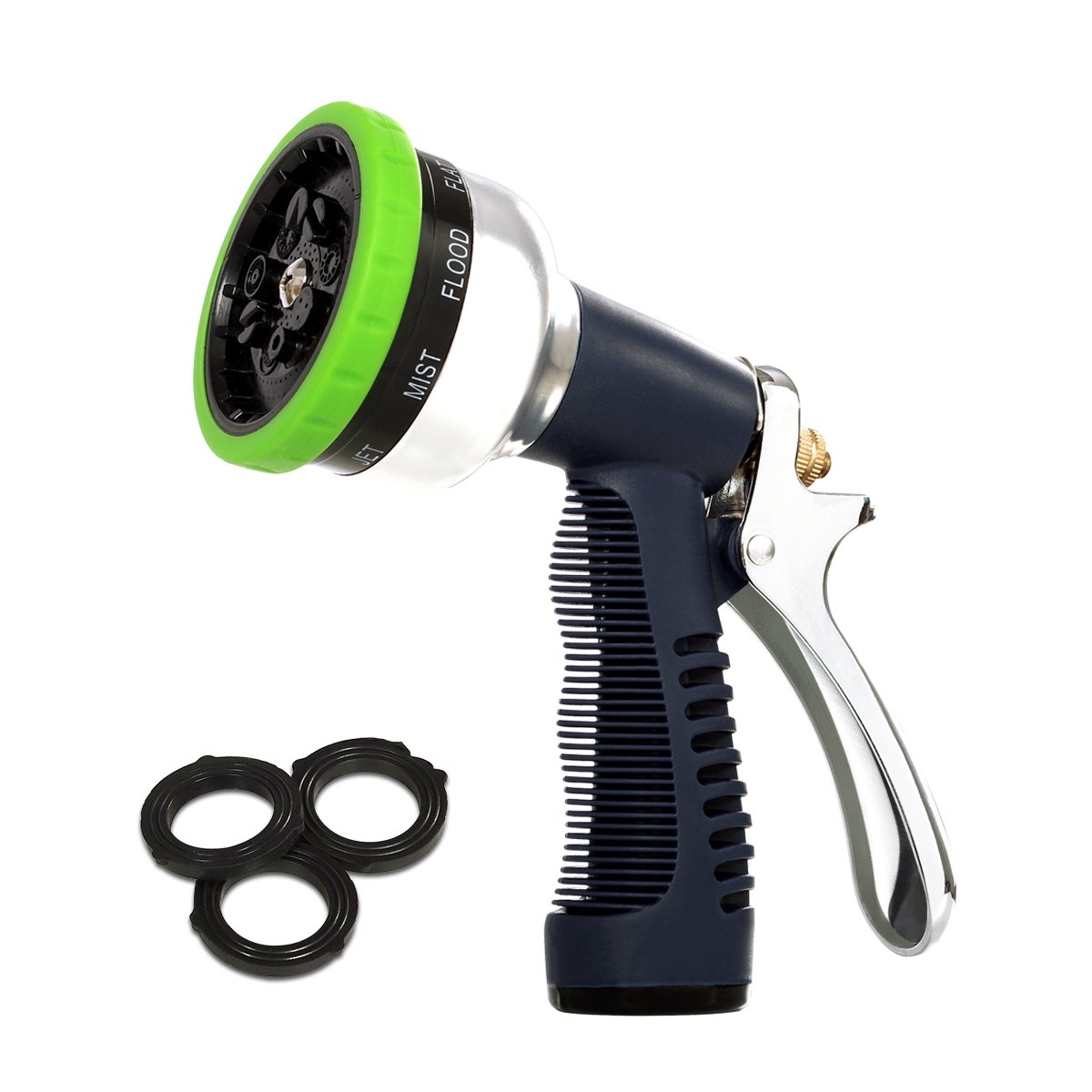 Orford NEW Garden Hose Nozzle Sprayer 2018 NEW 9 Adjustable Watering Patterns, Spray Nozzle High Pressure Heavy Duty And Light For Watering Plants, Cleaning, Car Wash and Showering Pets