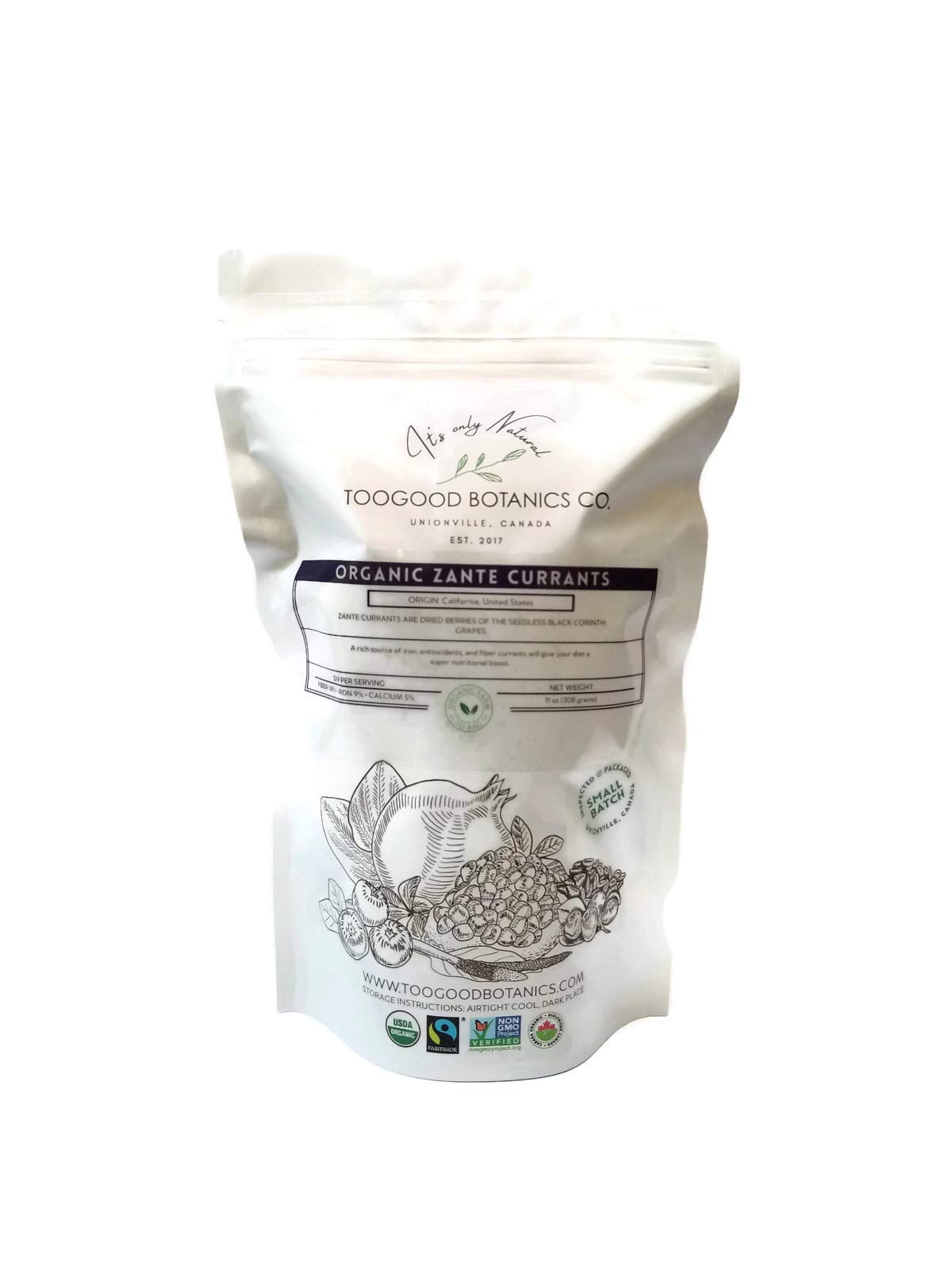 Organic Zante Currants, Seedless Raisins (11 ounces, 308 grams)