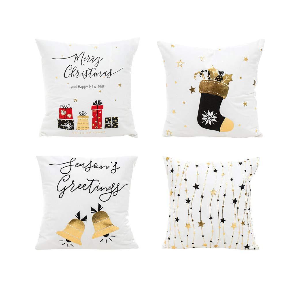 Fossrn Navidad Fundas Cojines 45x45 Merry Christmas Funda de ...