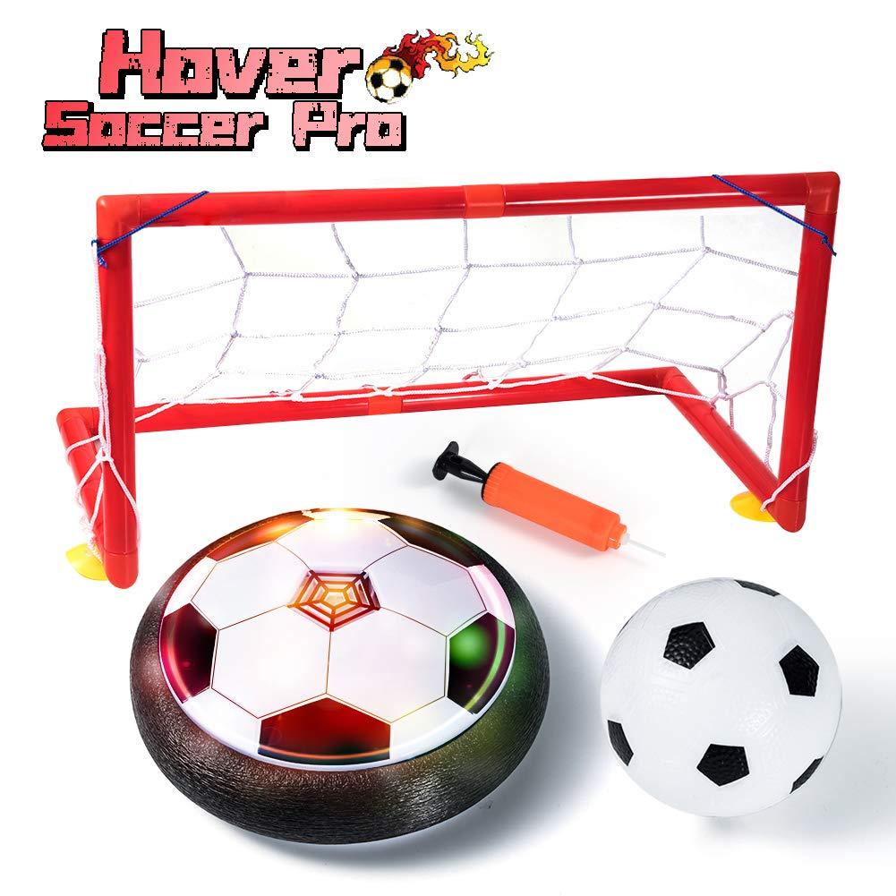 LOFEE 室内スポーツ 3歳から12歳の子供用 ホバーサッカーボールセット 2匹のゴラ付き 子供用誕生日プレス グレイ B07M71594K