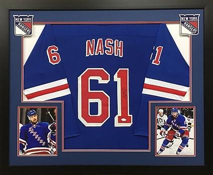 new style 15f6e b1ccd Rick Nash Signed New York Rangers 36x44 Custom Framed Jersey ...