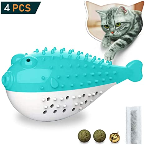 Aidiyapet Juguete Interactivo para Gatos, Cepillo de Dientes para ...