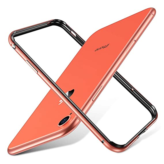wholesale dealer d1011 bf4ce ESR Crown Metal Bumper Case for iPhone XR, Metal Frame Armor with Soft  Inner Bumper [Zero Signal Interference] [Raised Edge Protection] for iPhone  XR, ...