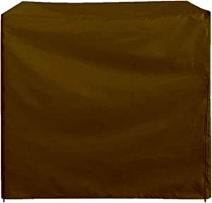 Swing Chair Cover Outdoor Patio Garden Hammock Glider Cover Durable Waterproof UV Resistant Weather Protector Furniture,Brown