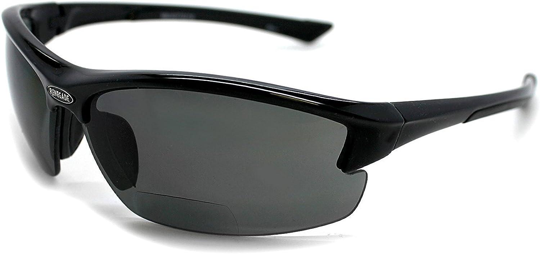 Renegade Patented Bifocal Polarized Reader Half Rim Men's Fishing Sunglasses 100% UV Protection with Microfiber Bag