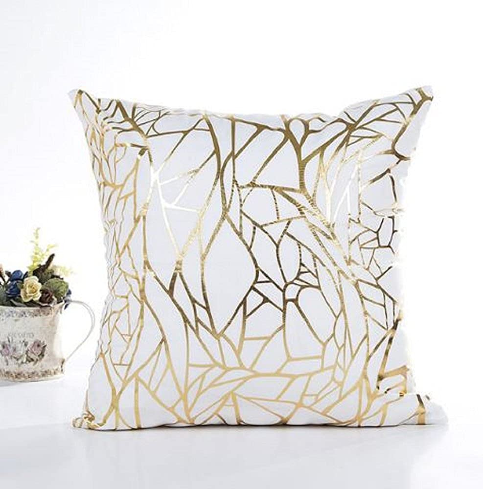 2PC, 17 X 17' Pillow Covers, Home Decorative Pillows Cover, GOLD