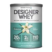 Designer Whey Protein Powder, French Vanilla, 12 Oz, Non Gmo,  Made in the USA