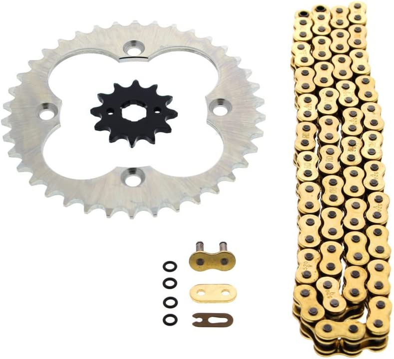 1993-2008 Honda TRX300EX 300EX 520-86 Red Non O Ring Chain Sprocket Silver 12//38