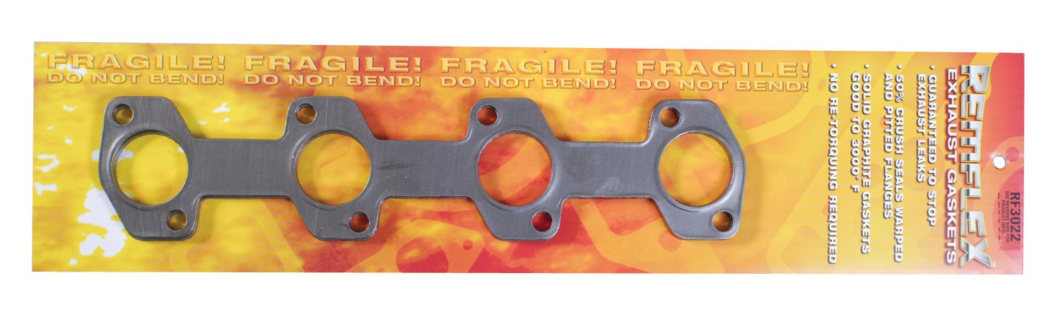Remflex 3022 Exhaust Gasket for Ford V8 Engine, (Set of 2)