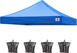 ABCCANOPY Replacement Tent Top Cover, Instant Pop up Canopy Top Cover ONLY, Bonus 4 Weight Bags (8x8, Royal Blue)