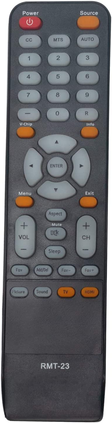 RMT-23 Replace Remote Control - AIDITIYMI RMT 23 Remote Control Replacement for Westinghouse TV EU40F1G1 CW50T9XW DWM40F1G1 DWM40F2G1 EW40F1G1 RMT23 Remote Control