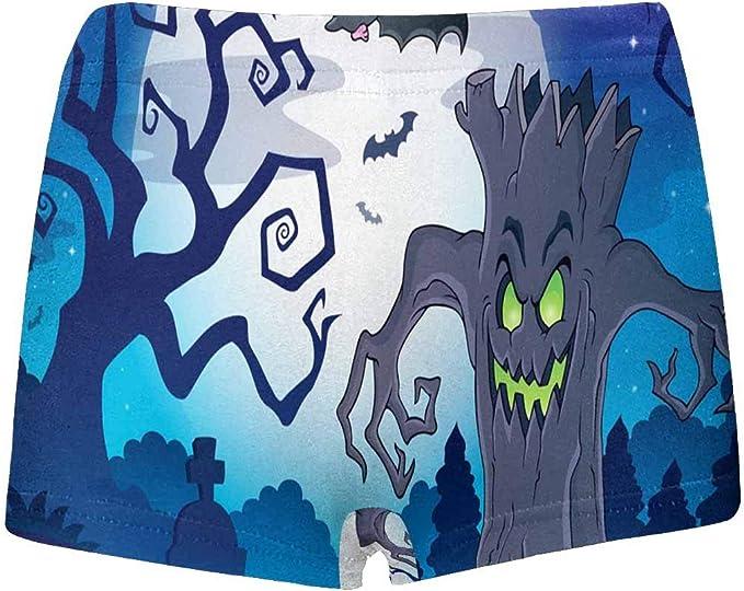 INTERESTPRINT Boys Halloween Scenery All Over Print Boxer Briefs 5T-2XL