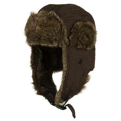 Boy s Ripstop Faux Fur Trooper Hat - Brown OSFM at Amazon Women s ... e9b9157d4b