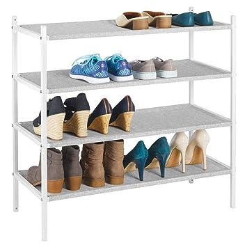mDesign Mueble zapatero para el armario o el recibidor ...