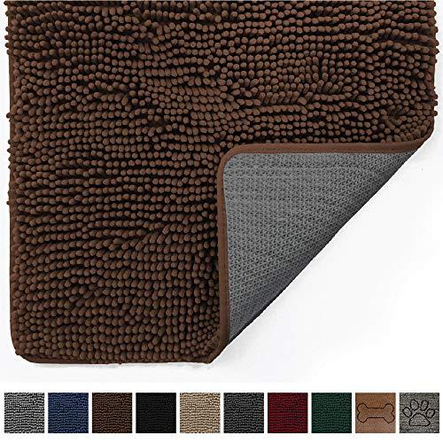 - Gorilla Grip Original Indoor Durable Chenille Doormat, Large (70x24) Absorbent, Machine Washable Inside Mats, Low-Profile Rug Doormats for Entry, Back Door, Mud Room Mat, High Traffic Areas (Brown)