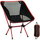 YOCUBY Folding Chair, Ultralight Portable Camping Chairs Aluminum Alloy Support 350 lbs Perfect for Camping/Hiking/Fishing/Beach/Picnic With Carry Bag(Orange)