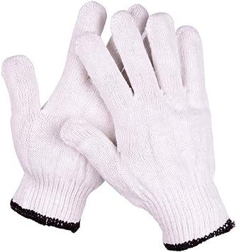 WXL Borde Negro Guantes de Hilo de algodón Protección Transpirable Antideslizante Fábrica 10 Pares W: Amazon.es: Deportes y aire libre