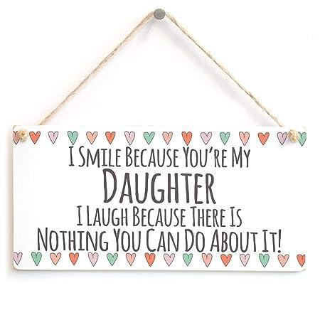Shunry Daughter Smile Colgar en la Pared Letrero de Placa ...