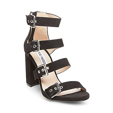 51979515c459 Steve Madden Womens Shani Strappy Dress Sandals Black 9.5 Medium (B