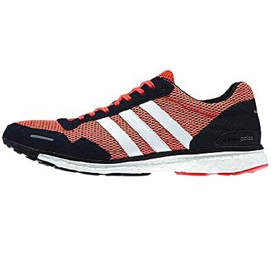 adidas Adizero Adios 3 m Chaussures de Running, Solaire Rouge Noir