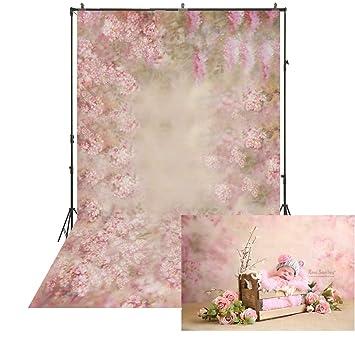 Amazon.com: 5 x 6.5ft colorido fondo Fantasía Rosa Flor de ...