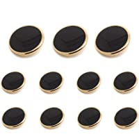 Funcoo 11 pcs Metal Blazer Button Vintage Antique Suits Button Set for Blazer, Suits, Sport Coat, Uniform, Jacket