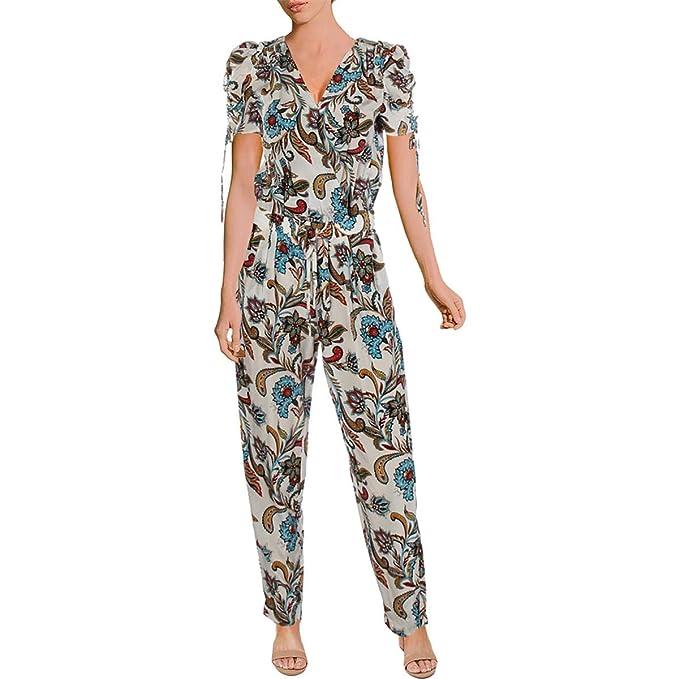 4e57c2e95fd Amazon.com  Juicy Couture Black Label Womens Silk Paisley Jumpsuit  Clothing
