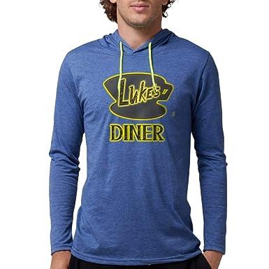 a640b881 Amazon.com: CafePress Luke's Diner Long Sleeve T-Shirt Mens Hooded Shirt:  Clothing