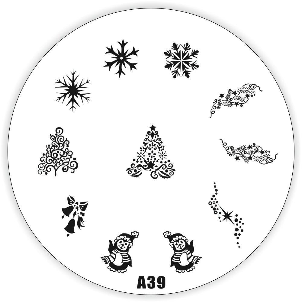 NAILFUN Christmas Nail Stamping Plate A39 NAILFUN ®
