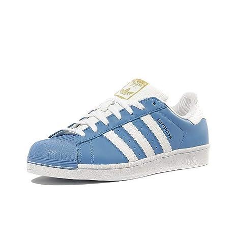 2012e37971f01 adidas Schuhe Superstar Ray Blue-Running White-Runnning White (S75881) 44 2