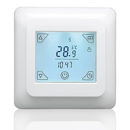 Beok TST32A-EP Termostato programable de pantalla táctil para calefacción el&eacute