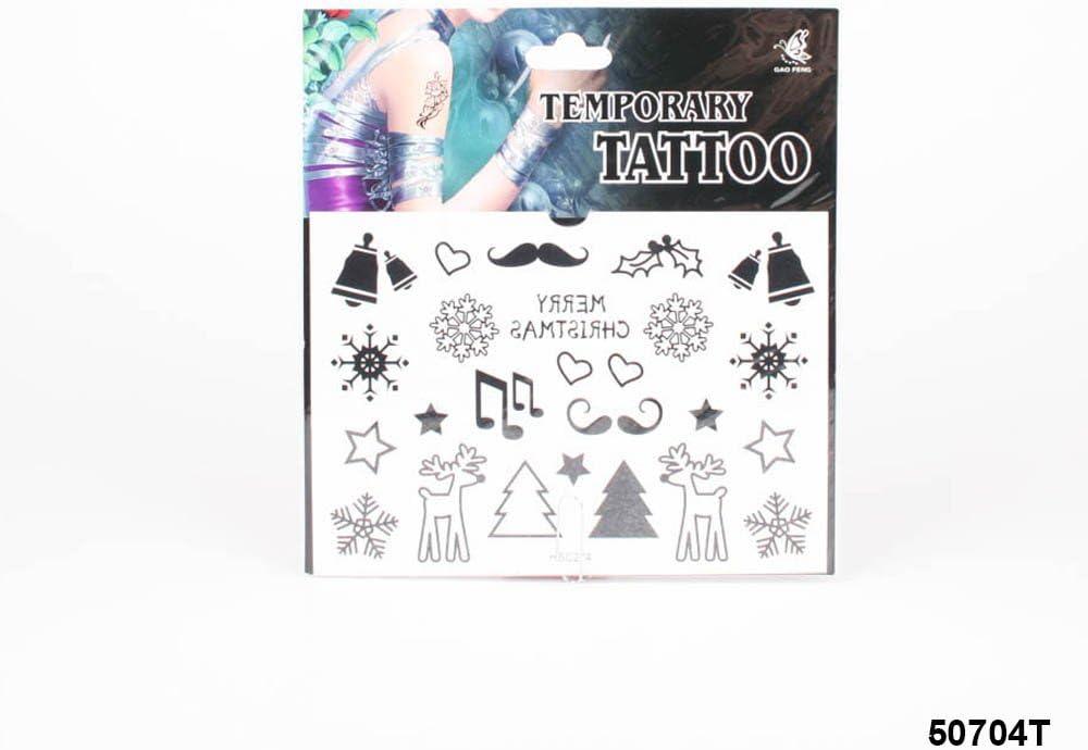 Tatuajes con copos de nieve, Rama de Muérdago, estrellas, notas ...