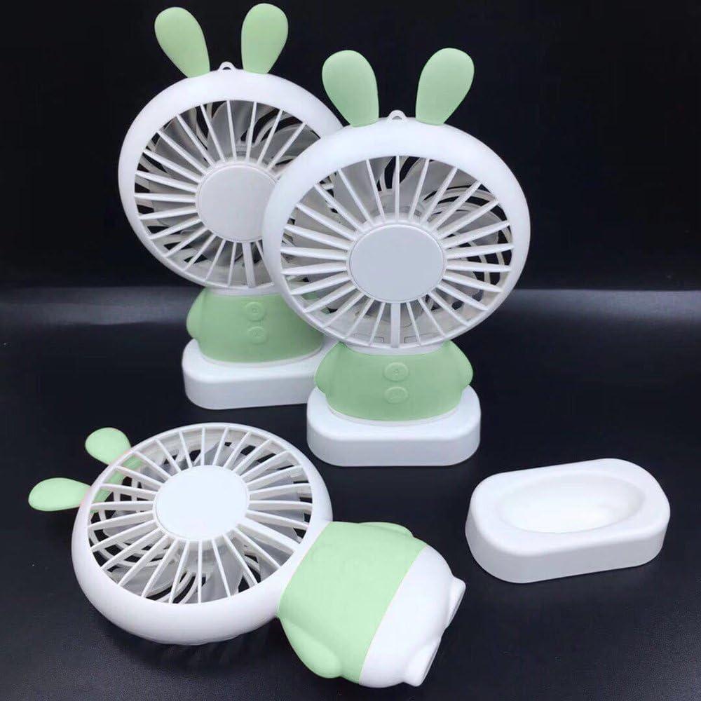 Hebey Mini Fan Handk/ühlung Personal Hand Gr/üne Kaninchen
