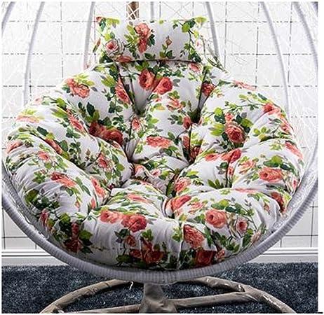 Cojín silla textil Silla Colgante De La Cesta CojinesColor Sólido Swing Cojines Para Sillas Redondo El Balcón Colgando Sillas Cesta Cojin De Asiento Patio Jardín Silla De Mimbre Cojin Para Silla Piso: