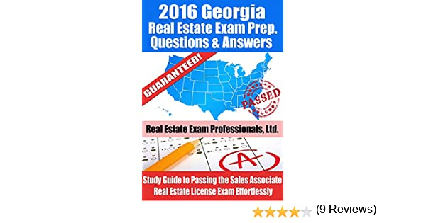 2016 Georgia Real Estate Exam Prep Questions and Answers: Study ...