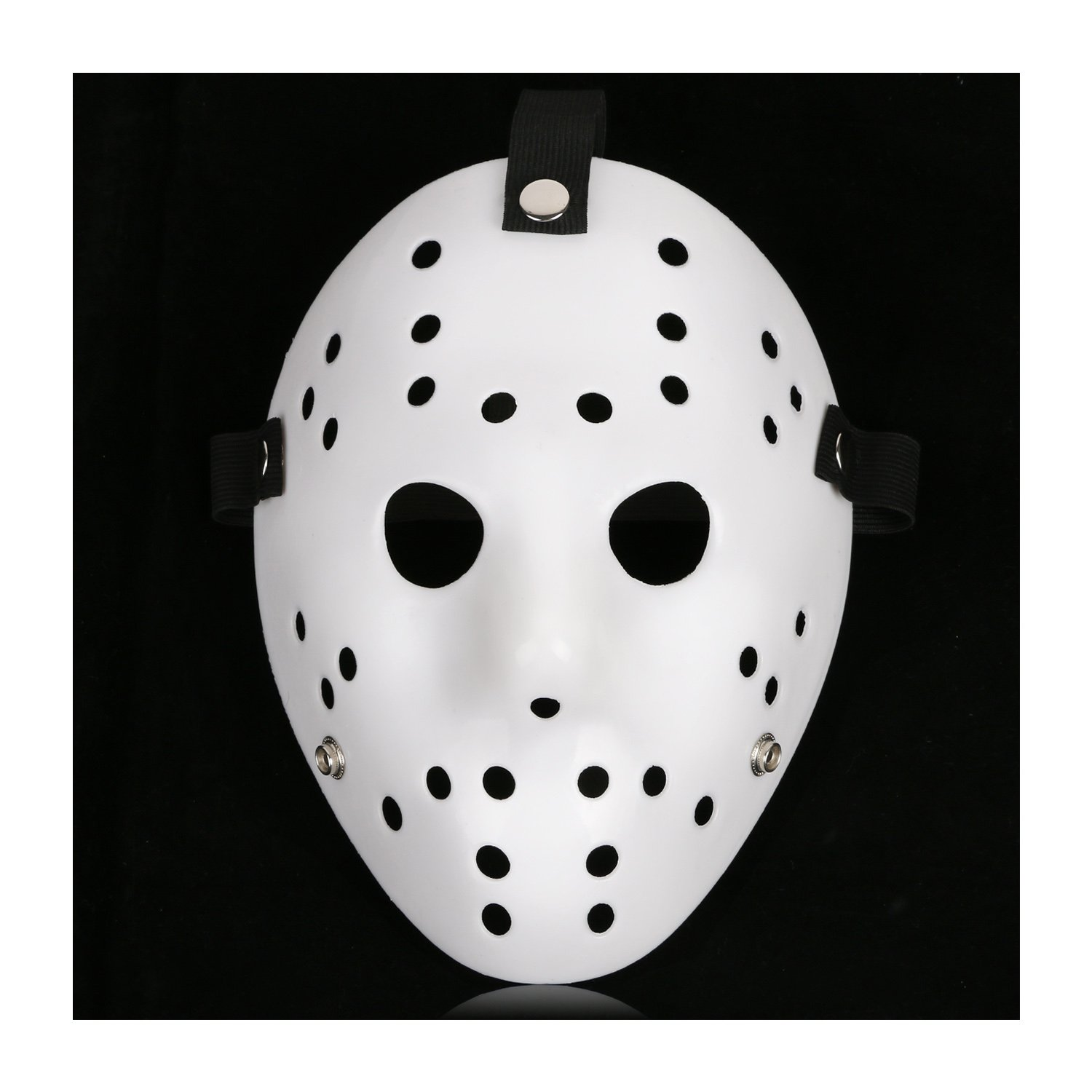 CASACLAUSI Jason Mask Cosplay Halloween Costume Mask Prop Horror Hockey (One Size, Pure White)