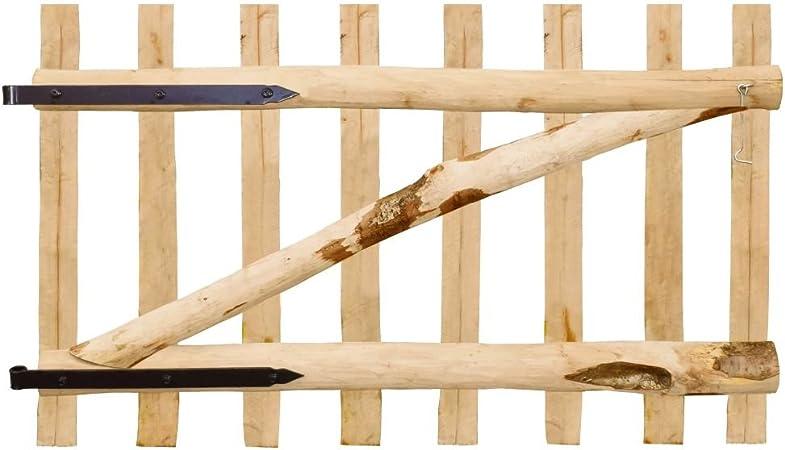 Tidyard Puerta Individual de Madera para Jardín,Puerta para Valla Verja Cercas o Cercados para Jardín Patio,Madera de Avellano 100x60cm: Amazon.es: Hogar