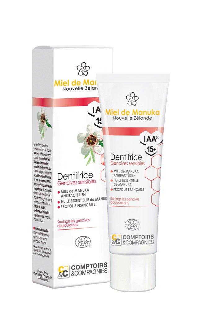 Negozi e Compagnie iaa15+ Dentifricio gengive sensibili al miele di Manuka COMPTOIRS ET COMPAGNIES DM15G